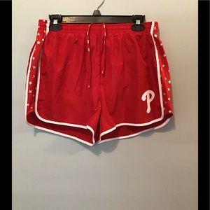 Philadelphia Phillies VS Pink Running Shorts NWT